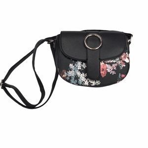 Like new JD Williams floral crossbody bucket bag